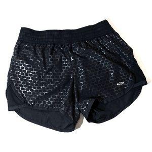 Champion Running Shorts Black & Silver Reflective